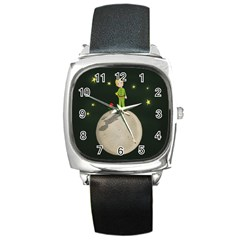 The Little Prince Square Metal Watch by Valentinaart