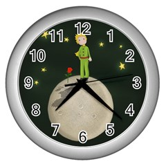 The Little Prince Wall Clocks (silver)  by Valentinaart