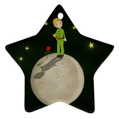 The Little Prince Star Ornament (two Sides) by Valentinaart
