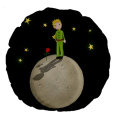The Little Prince Large 18  Premium Round Cushions by Valentinaart