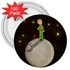 The Little Prince 3  Buttons (100 Pack)  by Valentinaart