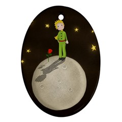 The Little Prince Oval Ornament (two Sides) by Valentinaart