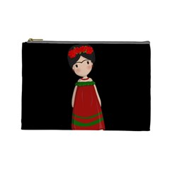 Frida Kahlo Doll Cosmetic Bag (large)