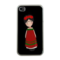 Frida Kahlo Doll Apple Iphone 4 Case (clear) by Valentinaart