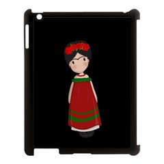 Frida Kahlo Doll Apple Ipad 3/4 Case (black) by Valentinaart