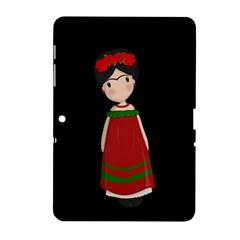 Frida Kahlo Doll Samsung Galaxy Tab 2 (10 1 ) P5100 Hardshell Case  by Valentinaart
