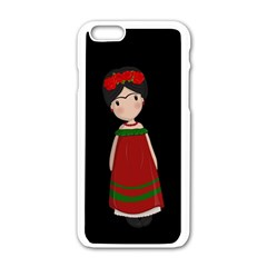 Frida Kahlo Doll Apple Iphone 6/6s White Enamel Case by Valentinaart