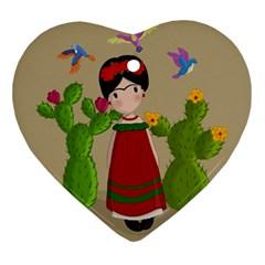 Frida Kahlo Doll Ornament (heart) by Valentinaart