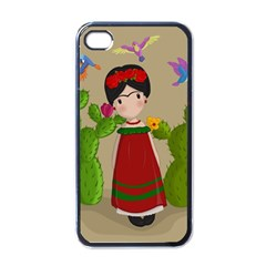 Frida Kahlo Doll Apple Iphone 4 Case (black) by Valentinaart