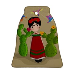 Frida Kahlo Doll Bell Ornament (two Sides) by Valentinaart