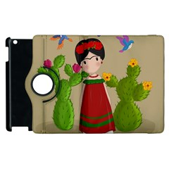 Frida Kahlo Doll Apple Ipad 3/4 Flip 360 Case by Valentinaart