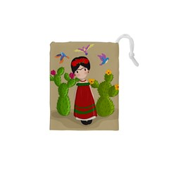 Frida Kahlo Doll Drawstring Pouches (xs)