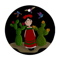 Frida Kahlo Doll Round Ornament (two Sides) by Valentinaart