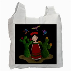 Frida Kahlo Doll Recycle Bag (one Side) by Valentinaart