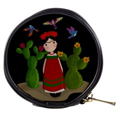 Frida Kahlo Doll Mini Makeup Bags by Valentinaart