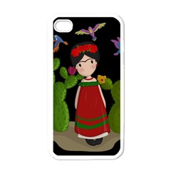 Frida Kahlo Doll Apple Iphone 4 Case (white) by Valentinaart