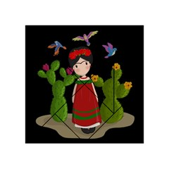 Frida Kahlo Doll Acrylic Tangram Puzzle (4  X 4 ) by Valentinaart