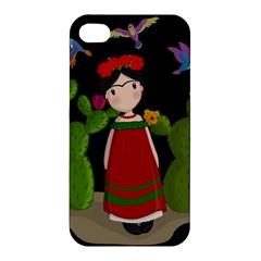 Frida Kahlo Doll Apple Iphone 4/4s Premium Hardshell Case by Valentinaart