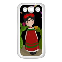 Frida Kahlo Doll Samsung Galaxy S3 Back Case (white) by Valentinaart