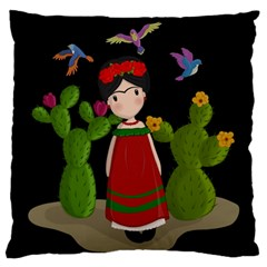 Frida Kahlo Doll Standard Flano Cushion Case (one Side) by Valentinaart