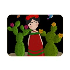 Frida Kahlo Doll Double Sided Flano Blanket (mini)  by Valentinaart
