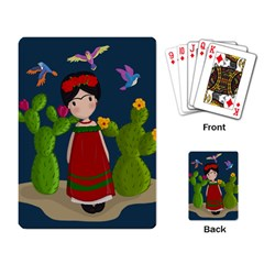 Frida Kahlo Doll Playing Card by Valentinaart