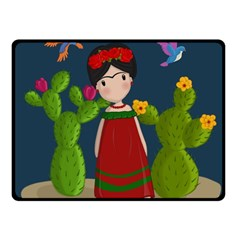 Frida Kahlo Doll Fleece Blanket (small) by Valentinaart