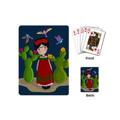 Frida Kahlo Doll Playing Cards (mini)  by Valentinaart