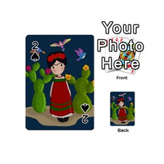 Frida Kahlo Doll Playing Cards 54 (mini)  by Valentinaart