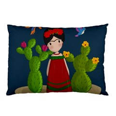 Frida Kahlo Doll Pillow Case (two Sides) by Valentinaart