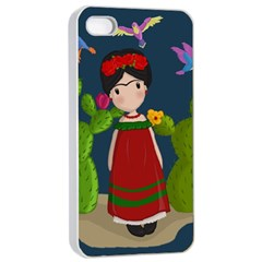 Frida Kahlo Doll Apple Iphone 4/4s Seamless Case (white) by Valentinaart