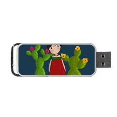 Frida Kahlo Doll Portable Usb Flash (two Sides) by Valentinaart