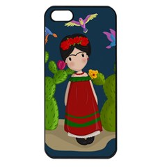 Frida Kahlo Doll Apple Iphone 5 Seamless Case (black) by Valentinaart