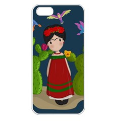 Frida Kahlo Doll Apple Iphone 5 Seamless Case (white) by Valentinaart