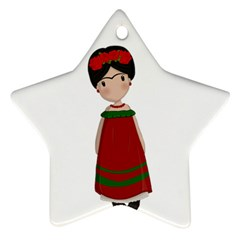 Frida Kahlo Doll Star Ornament (two Sides) by Valentinaart