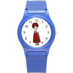 Frida Kahlo Doll Round Plastic Sport Watch (s) by Valentinaart