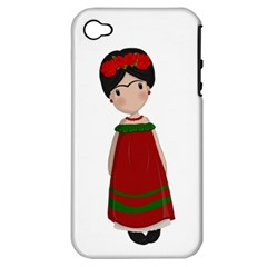 Frida Kahlo Doll Apple Iphone 4/4s Hardshell Case (pc+silicone) by Valentinaart