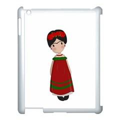 Frida Kahlo Doll Apple Ipad 3/4 Case (white) by Valentinaart