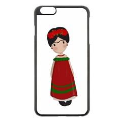 Frida Kahlo Doll Apple Iphone 6 Plus/6s Plus Black Enamel Case by Valentinaart