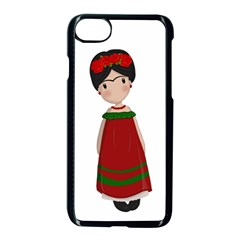Frida Kahlo Doll Apple Iphone 8 Seamless Case (black) by Valentinaart