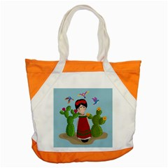 Frida Kahlo Doll Accent Tote Bag by Valentinaart