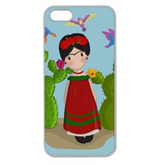 Frida Kahlo Doll Apple Seamless Iphone 5 Case (clear) by Valentinaart