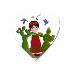 Frida Kahlo Doll Heart Magnet by Valentinaart