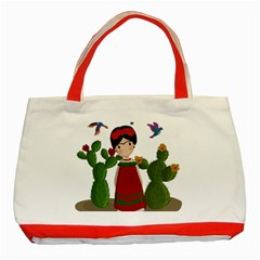 Frida Kahlo Doll Classic Tote Bag (red) by Valentinaart