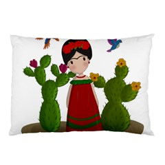 Frida Kahlo Doll Pillow Case by Valentinaart