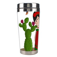 Frida Kahlo Doll Stainless Steel Travel Tumblers by Valentinaart
