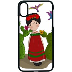 Frida Kahlo Doll Apple Iphone X Seamless Case (black) by Valentinaart