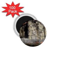 Castle Ruin Attack Destruction 1 75  Magnets (100 Pack)  by Celenk