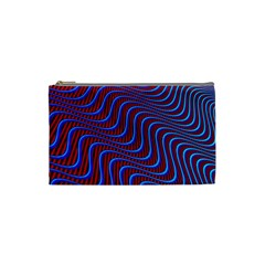 Wave Pattern Background Curves Cosmetic Bag (small)  by Celenk