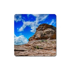 Mountain Canyon Landscape Nature Square Magnet by Celenk
